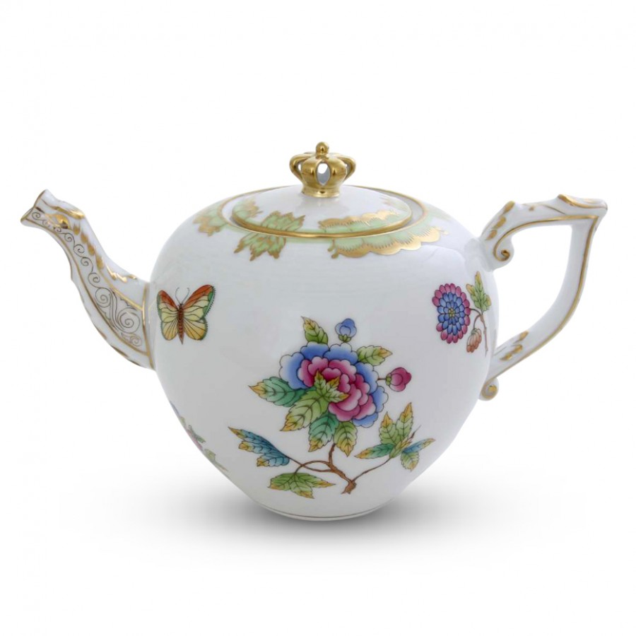 prince charlotte royal teapot 30 5 cm 800 ml william ashley china. Black Bedroom Furniture Sets. Home Design Ideas