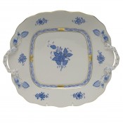Square Cake Plate with Handles, 25.5cm