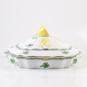 Covered Vegetable Bowl - Lemon Knob