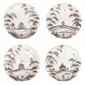 Set/4 Cocktail Plates