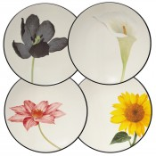 Set/4 Appetizer Plates