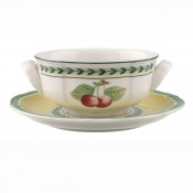 Cream Soup Cup & Saucer