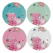 Set/4 Assorted Accent Plates, 20.5cm