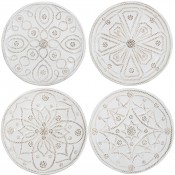 Set/4 Assorted Cocktail Plates, 16.5cm