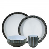 Stripes - 4 Piece Place Setting - Large Curve Mug