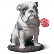 Bulldog with Lollipop, 33cm