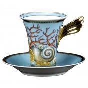 Tall Cup & Saucer