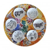 Joseph Tribe Seder Plate with 6 dishes, 40.5cm - Assorted Designs