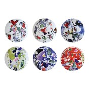 Set/6 Dinner Plates, 27cm - Assorted Designs