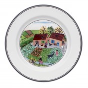 Bread & Butter/Side Plate #5 - Family Farm, 17cm