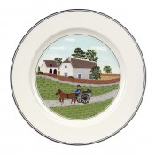 Dessert/Salad Plate #1 - Going to Market, 21cm