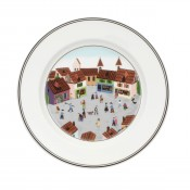 Dessert/Salad Plate #4 - Old Village Square, 21cm