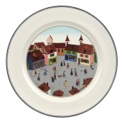 Dinner Plate #4 - Old Village Square, 27cm