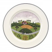 Dinner Plate #6 - Hunter & Dog, 27cm