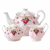 3 Piece Tea Set, Pink Vintage