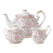 3 Piece Tea Set, Rose Confetti