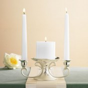 Candleholder With Candle, 20.5 cm