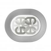 Oval Grey Platter, 42.5 cm