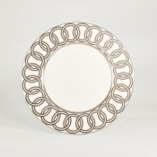 Accent Plate, 23cm - Platinum Ring