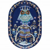 Oval Platter, 41x29cm - Blue