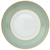 Turquoise Rim Soup, 22.1 cm