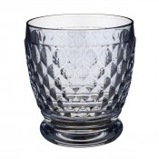 Blue Double Old Fashioned Glass/Tumbler, 10cm, 330ml