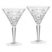 Set/2 Martini Glasses, 18cm, 205ml