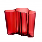 Cranberry Red Vase, 16 cm