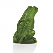 Frog Sitting Figurine, Lime