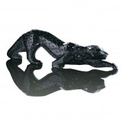 Zeila Panther Sculpture, Black