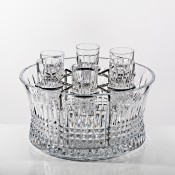 Vodka Set in Chill Bowl (with Silver Insert)