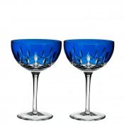Set/2 Coupe/Dessert Champagne/Cocktail Glasses, 17cm, 295ml - Cobalt