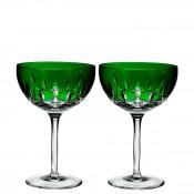 Set/2 Coupe/Dessert Champagne/Cocktail Glasses, 17cm, 295ml - Emerald