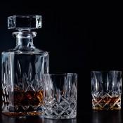 Spirit Decanter, 750ml & 2 Tumblers/Whisky Glasses, 285ml
