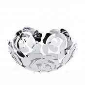 Stainless Steel La Rosa Fruit Bowl, 21 cm