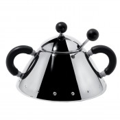 Sugar Bowl with Spoon, Black