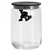 Gianni Medium Glass Jar, Black