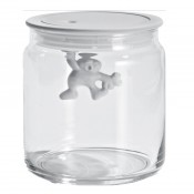 Gianni Small Glass Jar, White