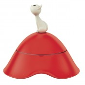 Mio Cat Bowl, Red 7""