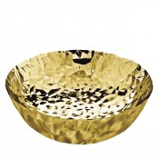 Joy No.11 Round Basket, Gold