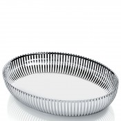 PCH06 - Oval Basket, 26x20cm - Stainless Steel