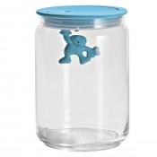 Gianni Medium Glass Jar, Blue