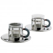 Set/2 Demitasse Cups & Saucers