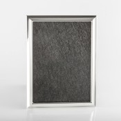 "Plain - Silver Plate Thin Photo/Picture Frame, 13x18cm (5""x7"") - G14"