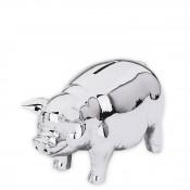 Silver Plate Classic Piggy Bank, 15cm