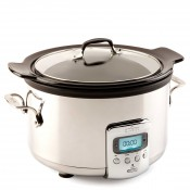 Slow Cooker with Black Ceramic Insert, 3.8L (4Qt)