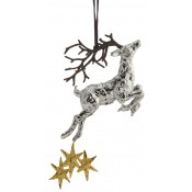 Reindeer Ornament, 17cm - Goldtone