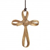 Palm Cross Ornament, 12.5cm - Antique Goldtone