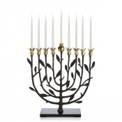 Kosher Menorah with Granite Base, 32cm