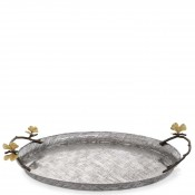 Oval Serving Tray with Handles, 49.5x33.5cm